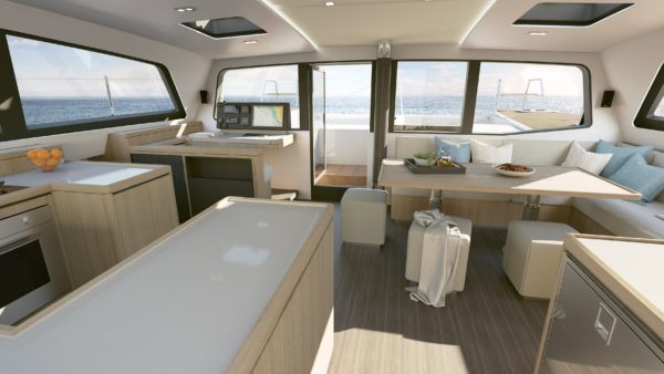 Le chantier Garcia Yachts est spécialisé depuis sa création dans la construction de voiliers à coque aluminium et il fait aujourd'hui partie du Groupe Grand Large Yachting. Dériveurs intégraux ou catamarans, les voiliers Garcia Exploration se démarquent par leur radicalité, tels que les Maracuja, ou les Passoa, et plusieurs grandes unités one-off remarquables. Ils sont connus également connus pour leur collaboration avec Jimmy Cornell et Pete Goss pour avoir créé des bateaux de grande croisière pour naviguer autour du monde, garantissant des finitions haut de gamme. The shipyard Garcia Yachts has specialized since its creation in the construction of aluminum hulled boats and sailboats and is now part of the Grand Large Yachting Group. Centerboarders, lifting keel, or catamarans, the Garcia Exploration sail yachts stand out for their radicality, as Maracuja and Passoa, and several remarkable one-off units. They are also known for their collaboration with Jimmy Cornell and Pete Goss for the creation of blue water cruising boats designed to navigate around the word guaranteeing high-end finishes.