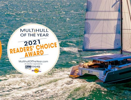 """The Garcia Explocat 52, winner of """"Multihull of the Year"""" 2021 contest"""